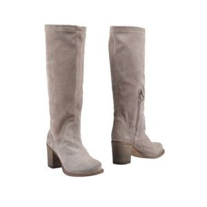 Fiorentini + Baker Dove Grey Knee High Suede Boots